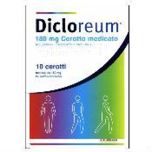 Dicloreum Antinfiammatorio Locale 180 mg Diclofenac 10 Cerotti Medicati