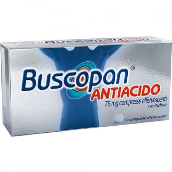 Buscopan Antiacido 75mg Ranitidina 10 Compresse Effarvescenti