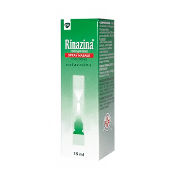 Rinazina Spray Nasale Decongestionante 0,1% Nafazolina 15ml