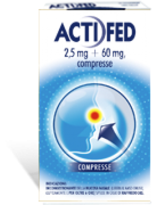 Actifed Decongestionante Nasale 2,5 mg 60 mg 12 compresse