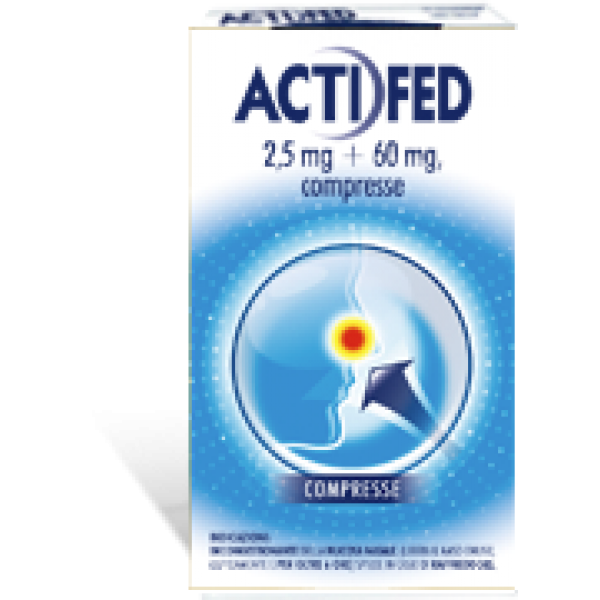 Actifed Decongestionante Nasale 2,5 mg 60 mg 12 compresse