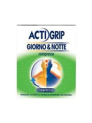 Actigrip Giorno & Notte Raffreddore e Influenza 12 + 4 Compresse