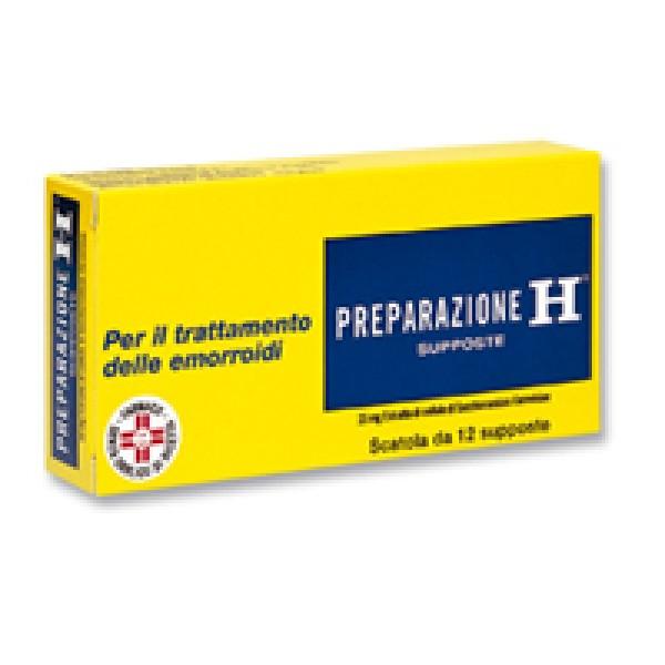 Preparazione H 23 mg Trattamento Emorroidi 12 Supposte