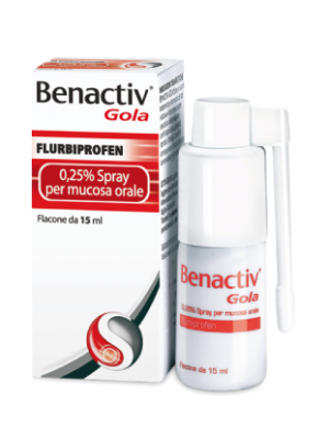 Benactiv Gola Spray 0,25% Flurbiprofene 15 ml