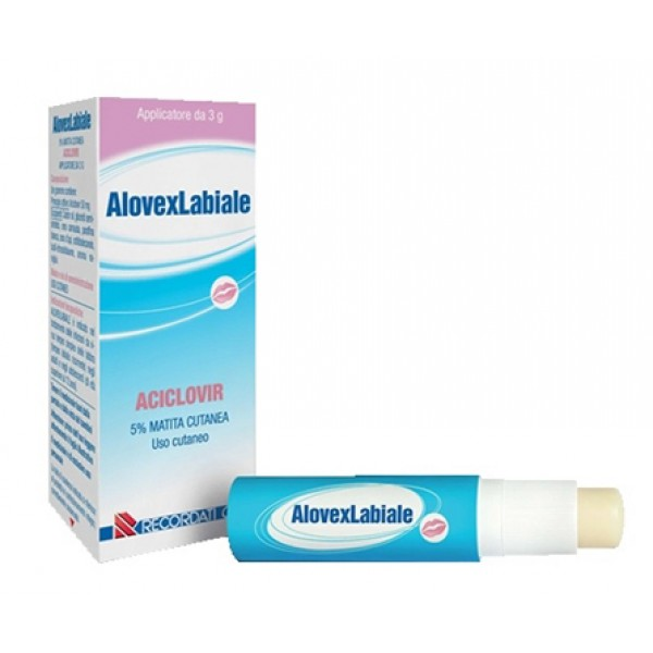 Alovex Labiale Matita Cutanea 5% Aciclovir Herpes 3 grammi