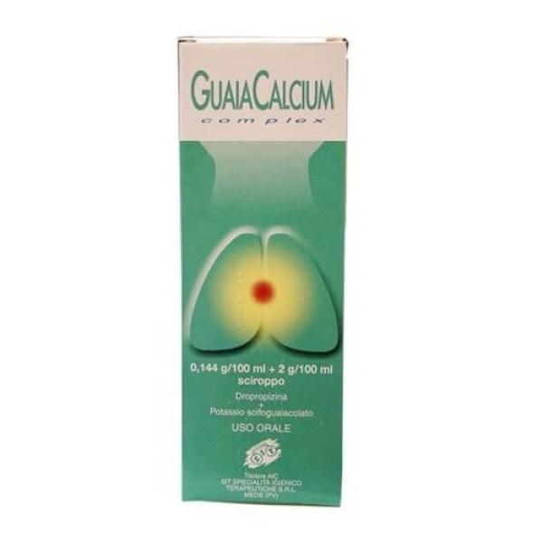 Guaiacalcium Complex Dropropizina Sciroppo Tosse Sedativo Flacone 200 ml