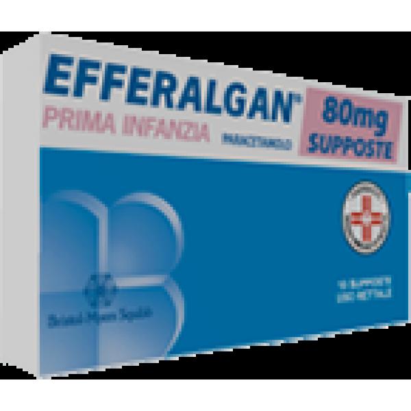 Efferalgan Lattanti 80 mg Paracetamolo 10 Supposte