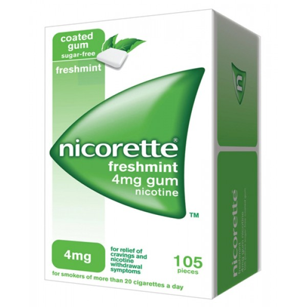 Nicorette Gomme 4 mg Nicotina Menta 105 Gomme Masticabili