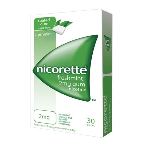Nicorette 2 mg Gomme Masticabili per Smettere di Fumare 30 pezzi