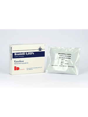 Brunistill Collirio 0,025 mg Ketotifene Congiuntivite 20 Flaconcini