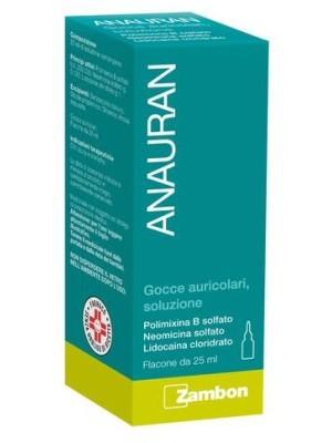 Anauran Gocce Auricolari Polimixina B Solfato Otiti 25 ml