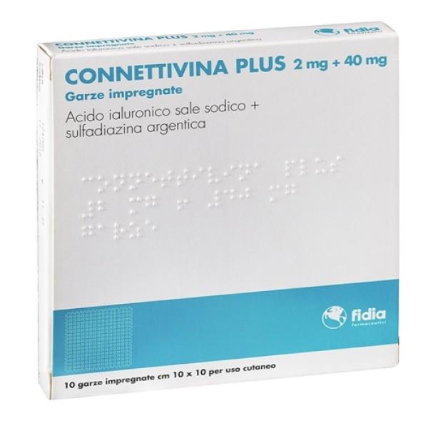 Connettivina Plus Garze Impregnate di Crema 10 x 10 cm 10 Garze