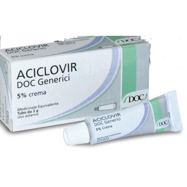 Aciclovir Doc 5% Crema Herpes 3 grammi