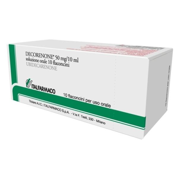 Decorenone 50 Soluzione Orale 50 mg Ubidecarenone 10 Flaconcini