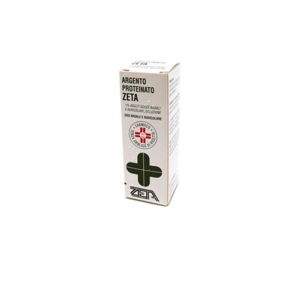 Argento Proteinato Zeta 1% Gocce Nasali e Auricolari 10 ml