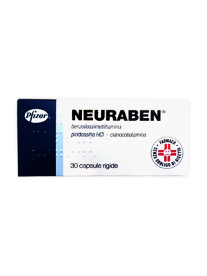 Neuraben 100 mg Benzoilossimetiltiamina Vitamina B 30 Capsule