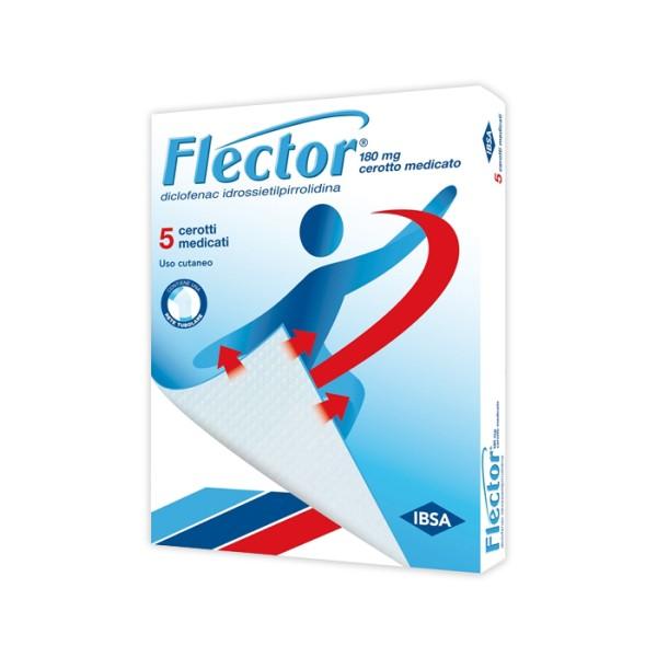 Flector 5 Cerotti Medicali Articolazioni Muscoli e Legamenti 180 mg