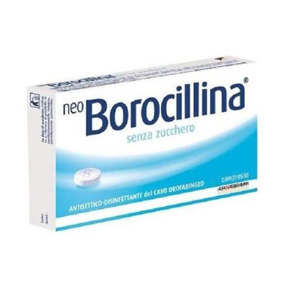 Neo Borocillina Senza Zucchero 1,2 mg + 20 mg Antisettico 16 Pastiglie