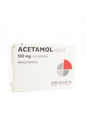 Acetamol 500 mg Adulti Paracetamolo 20 Compresse