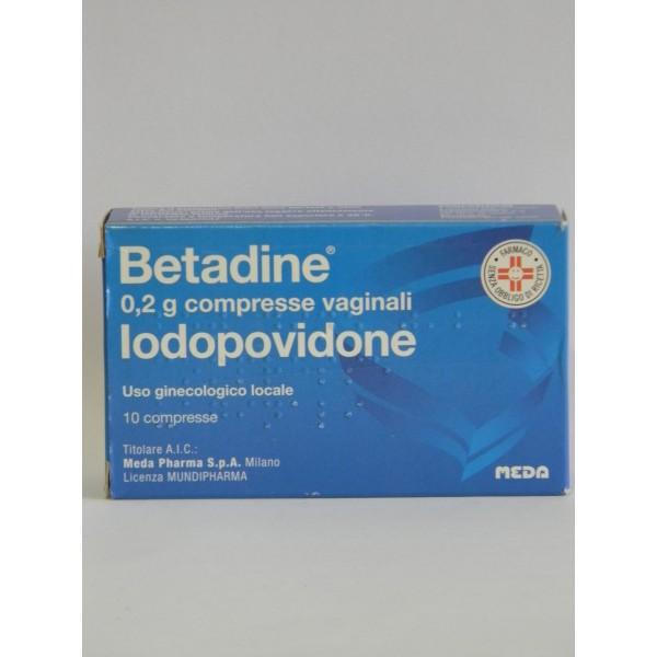 Betadine 10 Compresse Vaginali 200mg