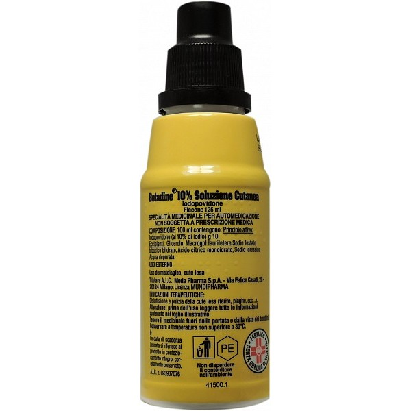 Betadine Soluzione Cutanea Disinfettante 10% 125ml