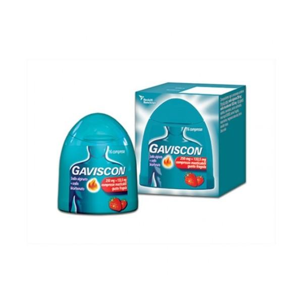 Gaviscon Aroma Fragola 250 mg + 133,5 mg 16 Compresse Masticabili