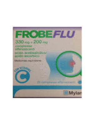 Frobeflu 300 mg + 200 mg Mylan Acido Acetilsalicilico 20 Compresse Effervescenti