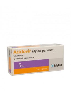 Aciclovir Mylan Generics 5% Herpes Crema 3 grammi