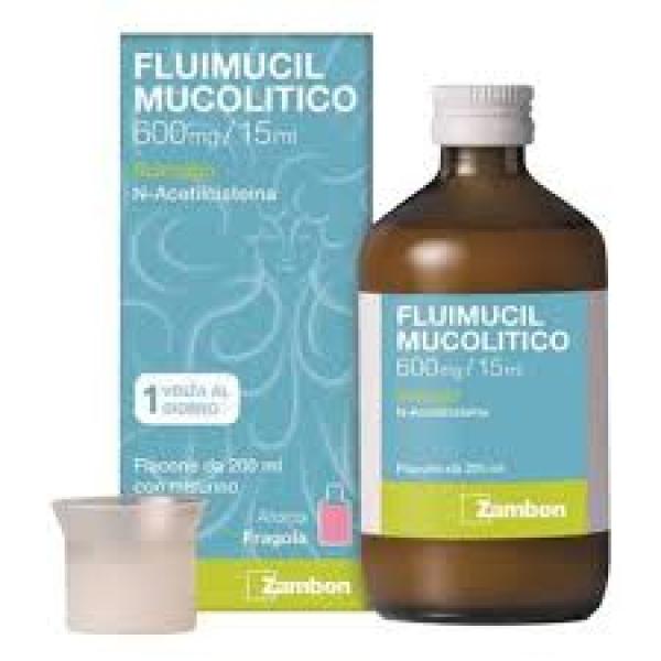 Fluimucil Mucolitico 600mg/15ml Sciroppo Epettorante 200 ml