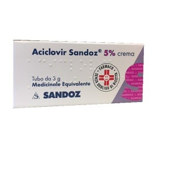 Aciclovir Sandoz 5% Crema Antivirale 3 grammi