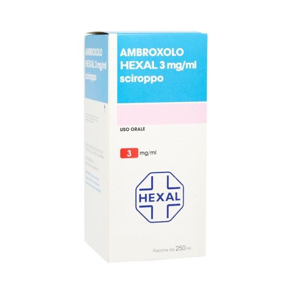 Ambroxolo Hexal 3 mg/ml Sciroppo Espettorante Flacone 250 ml