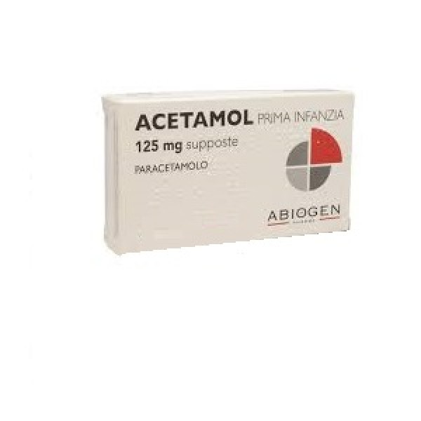 Acetamol Prima Infanzia 125 mg Paracetamolo 10 Supposte