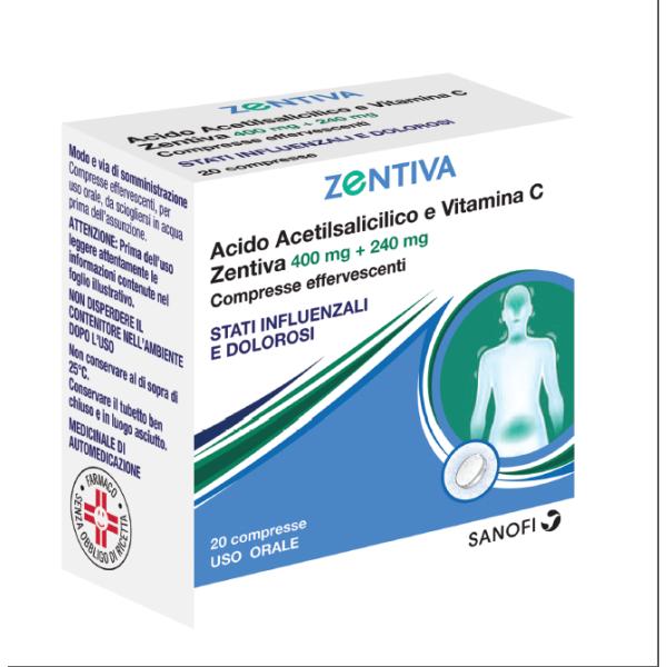 ACIDO Acet+Vit.C 20Cpr Eff.ZTV