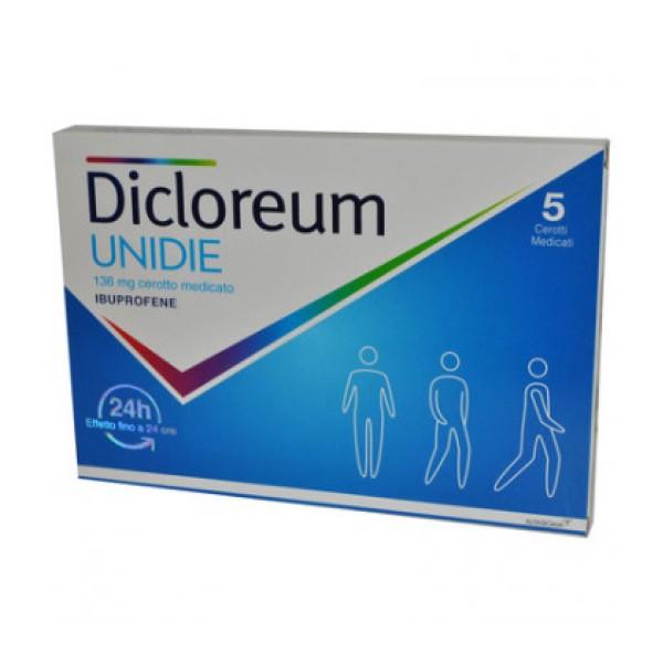 Dicloreum Unidie 136 mg 5 Cerotti Medicati