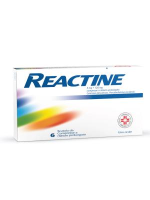 Reactine Antistaminico 6 Compresse 5 mg 120 mg
