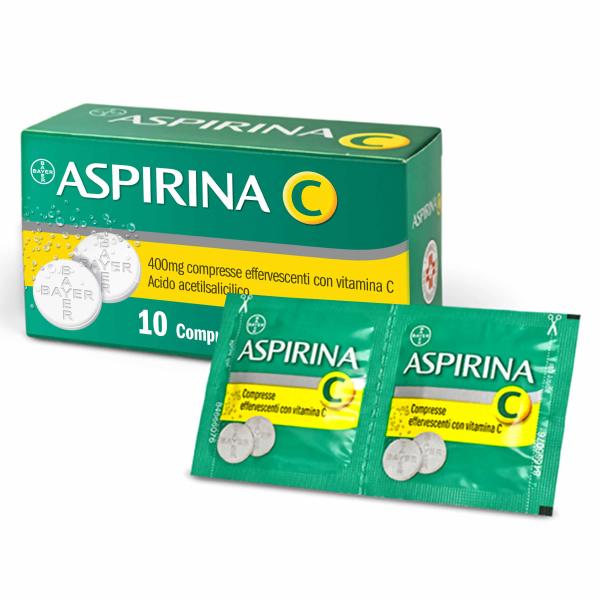 Aspirina C 400 mg + 240 mg Acido Acetilsalicilico 10 Compresse Effervescenti