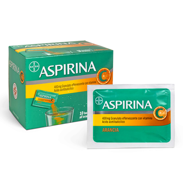 Aspirina C 400 mg Acido Acetilsalicilico 10 Bustine Arancia