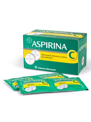 Aspirina C 400 mg + 240 mg Acido Acetilsalicilico 20 Compresse Effervescenti