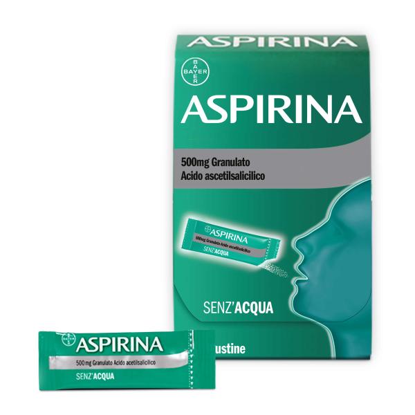 Aspirina Granulato 500 mg Acido Acetilsalicilico 10 Bustine