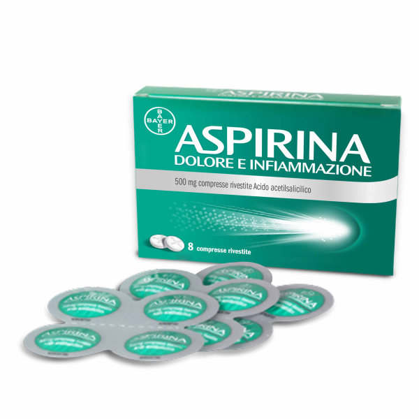 Aspirina Dolore e Infiammazione 500 mg 8 Compresse