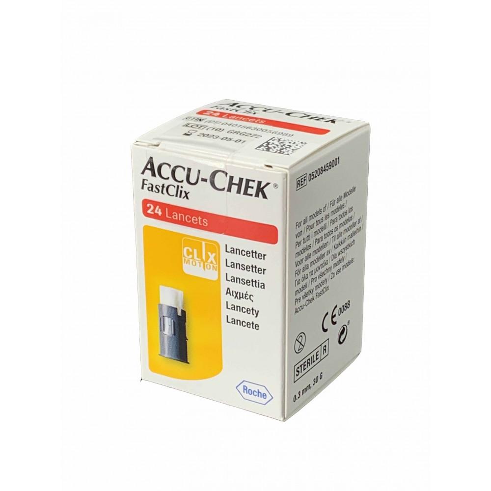 Accu Check Fast Click Lancette Pungidito 24 pezzi
