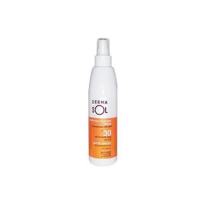 Dermasol Solare Latte Corpo Spray SPF 30+ Protezione Alta 200ml