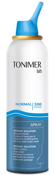 Tonimer Lab Spray Naso Getto Normale Soluzione Salina Isotonica 125ml