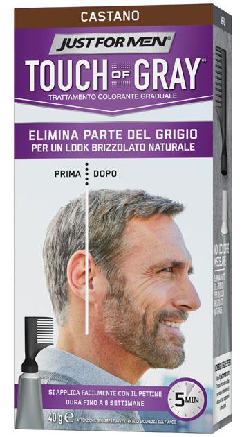 Touch of Gray Trattamento Colorante per Uomo Castano 40 ml