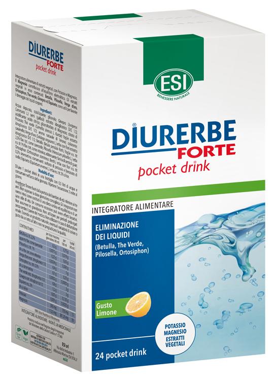 Diurerbe Forte Integratore Alimentare Pocket Drink Limone Esi 24 stick