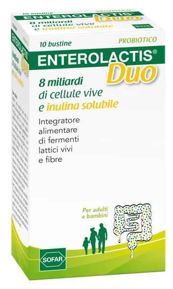 Enterolactis Duo Integratore Alimentare Fermenti Lattici 10 Bustine