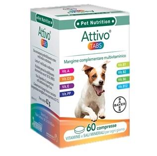 Bayer Pet Attivo Tabs Cani 60 Compresse - Integratore Multivitaminico