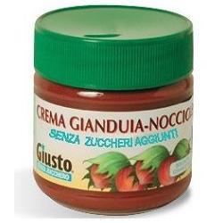 Giusto Senza Zuccheri Aggiunti Crema Spalmabile Gianduia e Nocciole 200 grammi