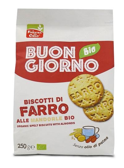 FINESTRA SUL CIELO Biscotti Farro Mandorle 250g