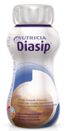 Diasip Integratore per Diabetici Gusto Cioccolato 4 x 200 ml